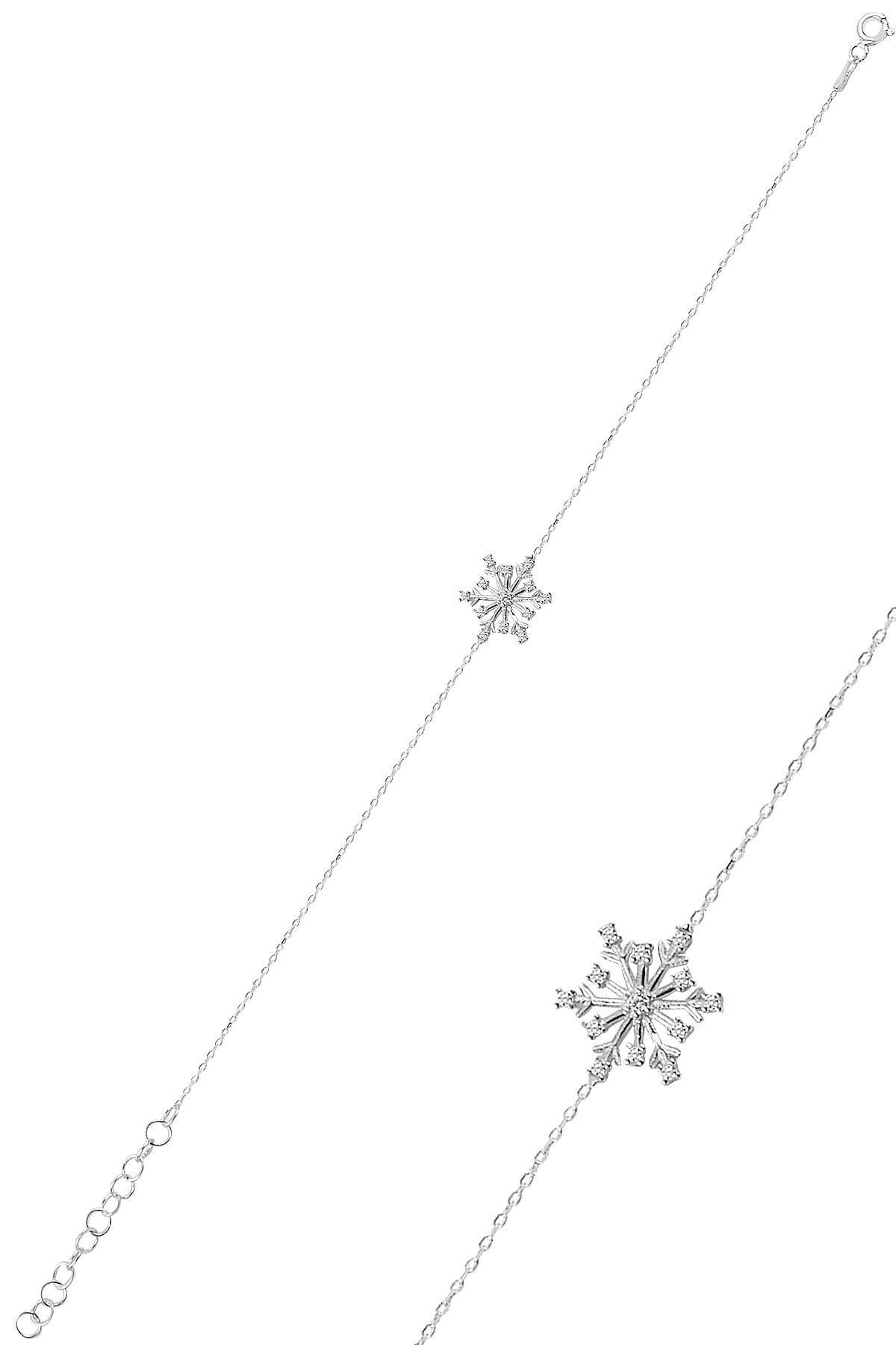 Söğütl�� Silver Gümüş Zirkon Taşlı Kartanesi Bileklik Sgtl10093rodaj
