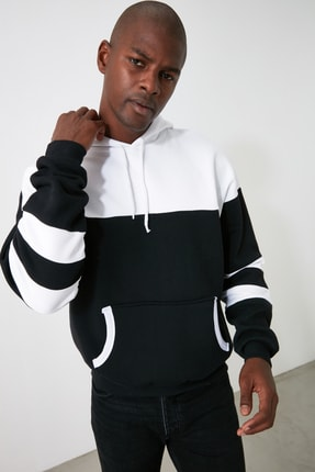 TRENDYOL MAN Siyah Erkek Sweatshirt TMNAW21SW0923