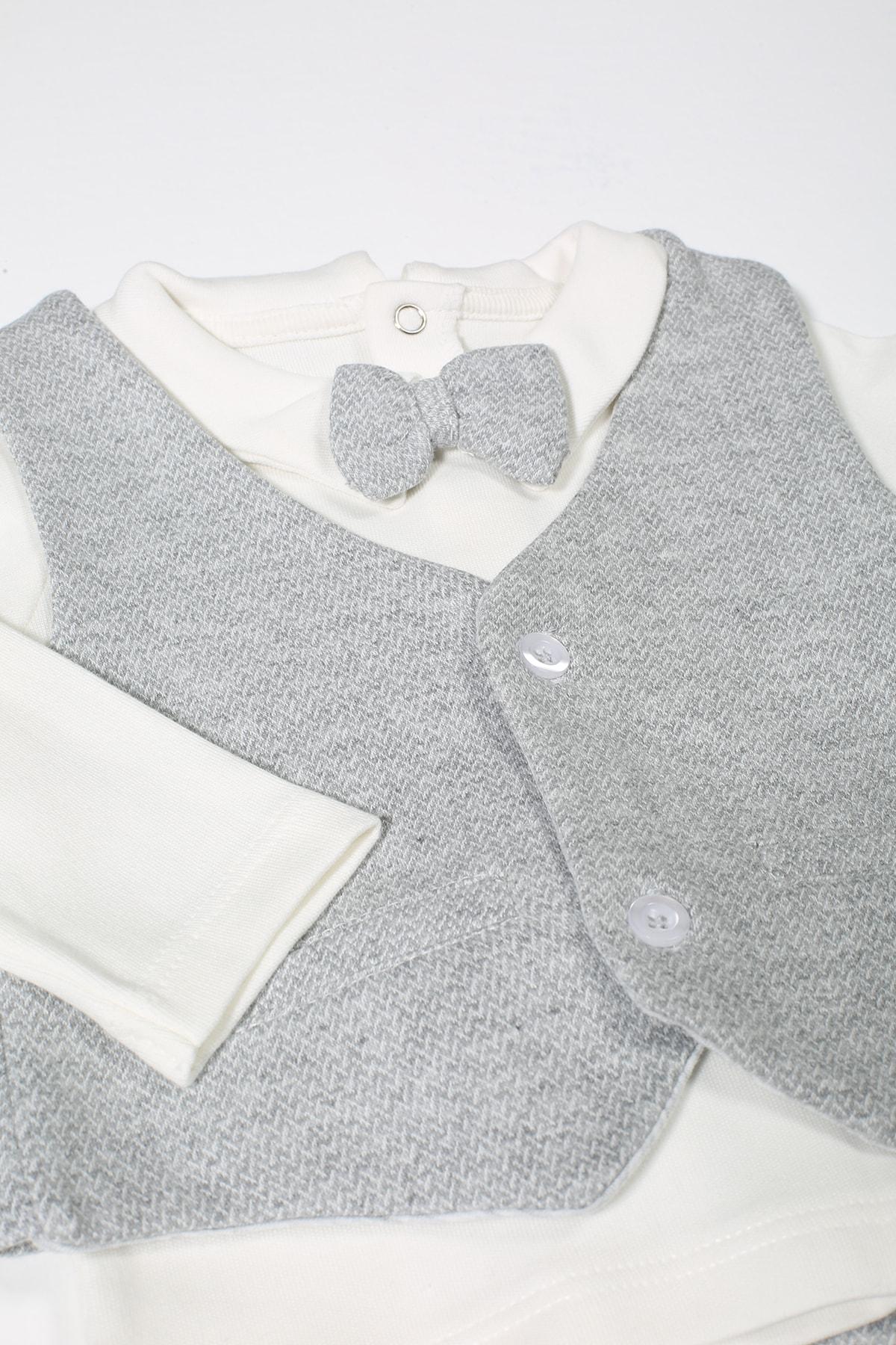 For My Baby Erkek Bebek Yelekli 3'lü Takım 2