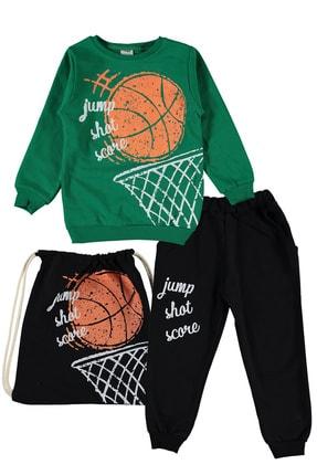 hepbaby Basket Baskılı, Çantalı Erkek Çocuk Eşofman Takımını – 3-6 Yaş