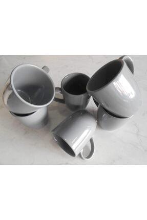 Keramika Gri Kupa Bulut 9 cm 6 Adet