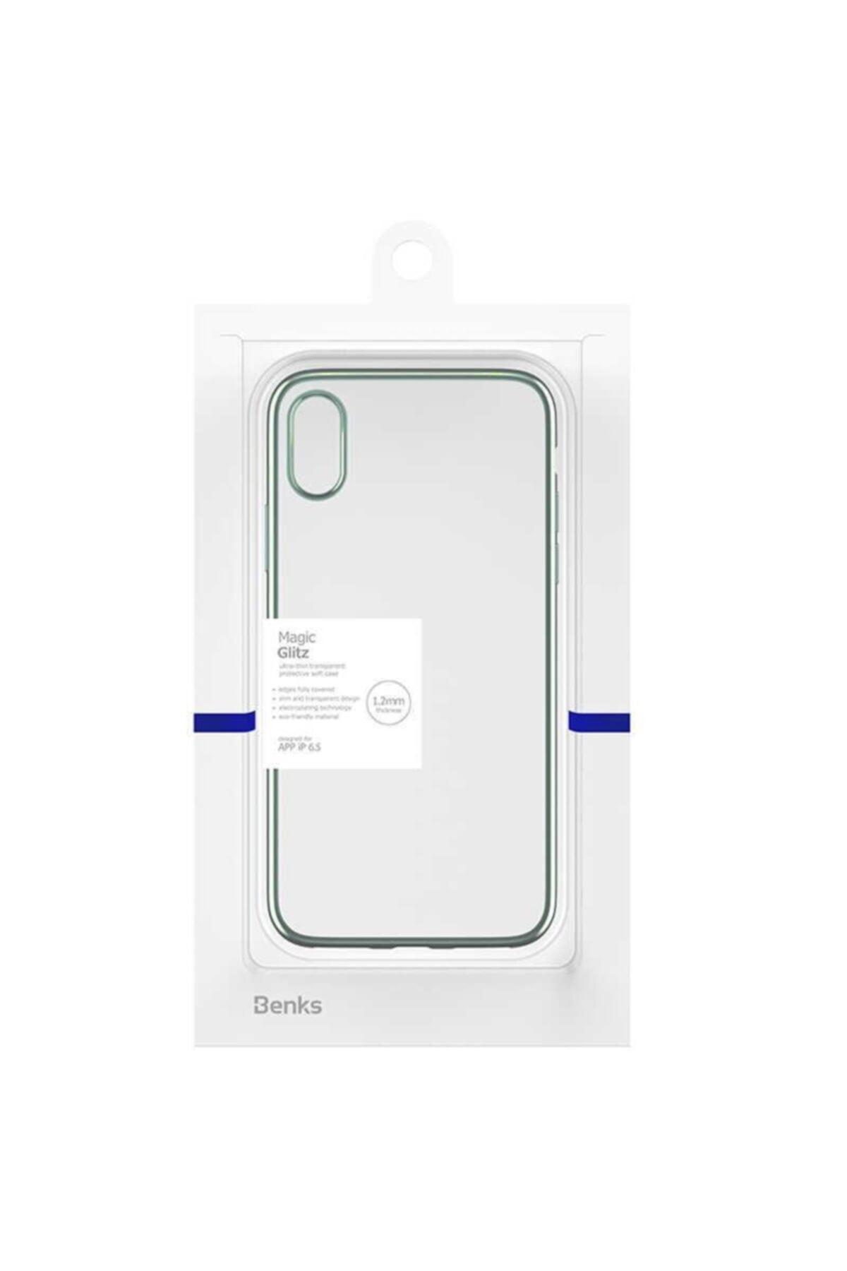zore Iphone Xs Max Benks Magic Kılıf Ultra Ince Silikon Lazer Şeffaf + Nano Cam 1
