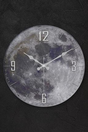 Muyika Design Muyika Moon Oval Gerçek Cam 36cm Duvar Saati