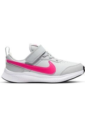 Nike Unisex Çocuk Gri Varsity Leather Deri Spor Ayakkabısı