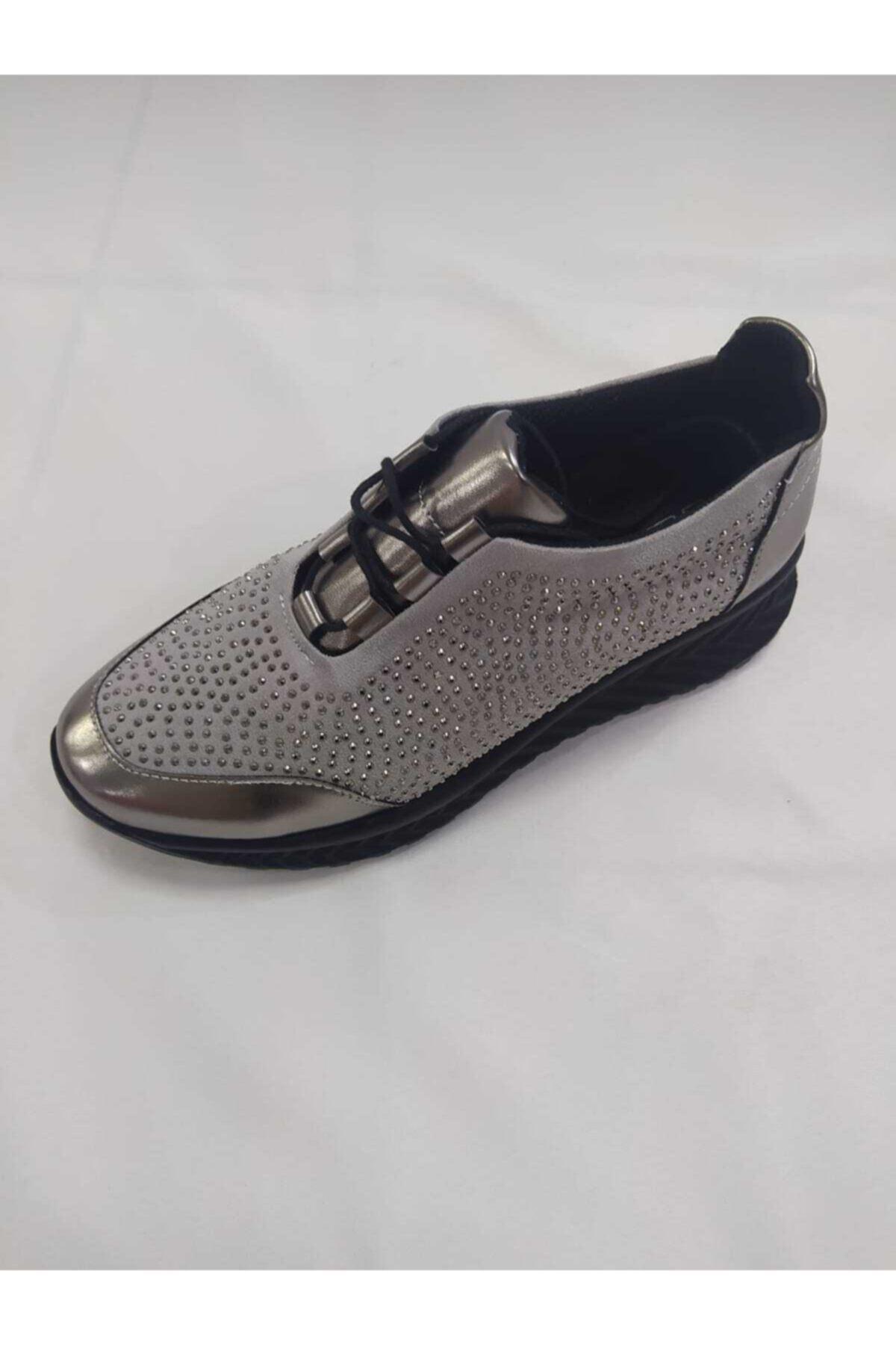 PUNTO Kadın Gri  Spor Ayakkabı 1