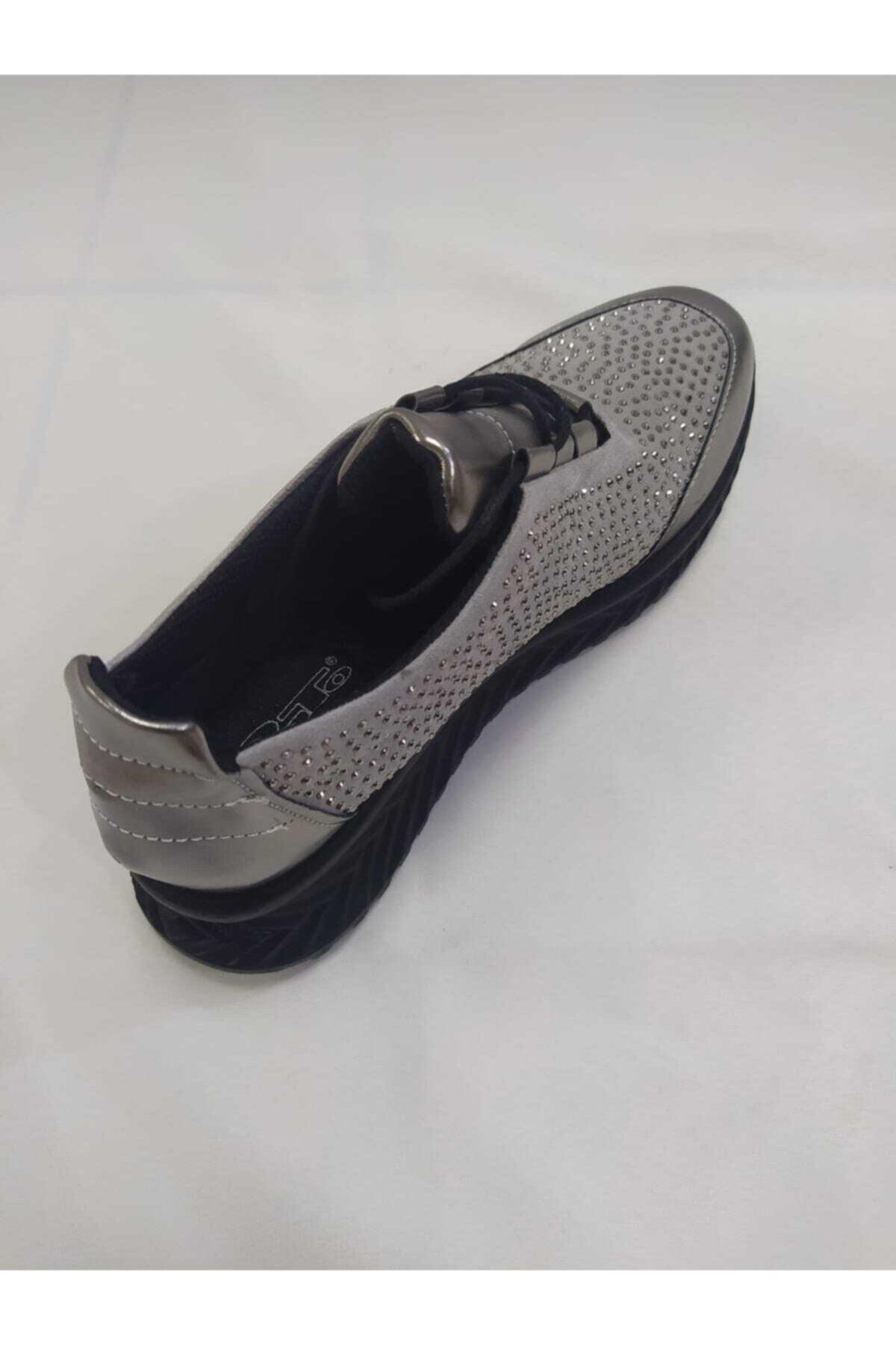 PUNTO Kadın Gri  Spor Ayakkabı 2