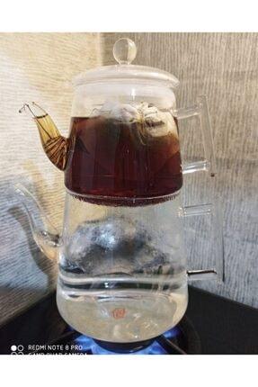 Taşev Bambum Pori Borosilikat Cam Çaydanlık