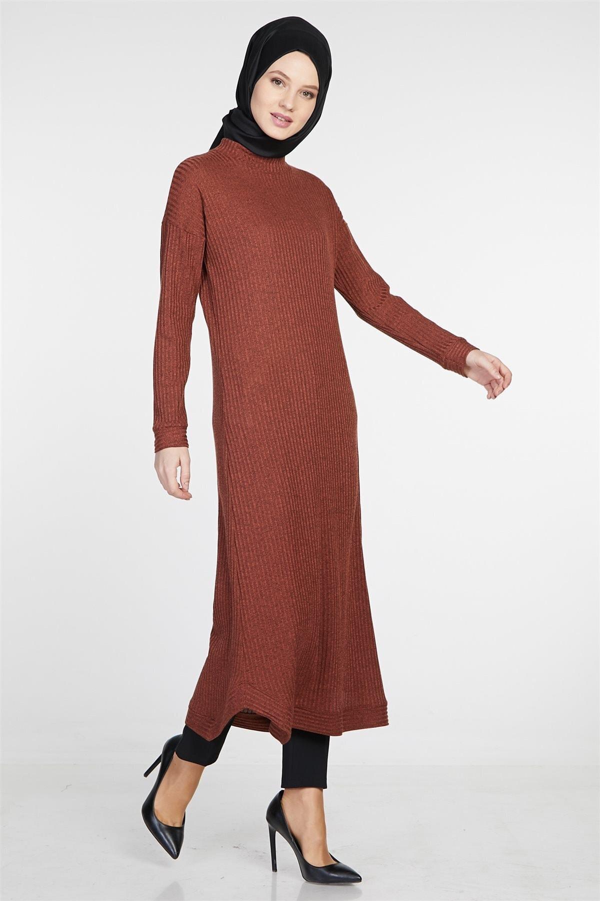 Tuğba Kadın Kiremit Elbise 2