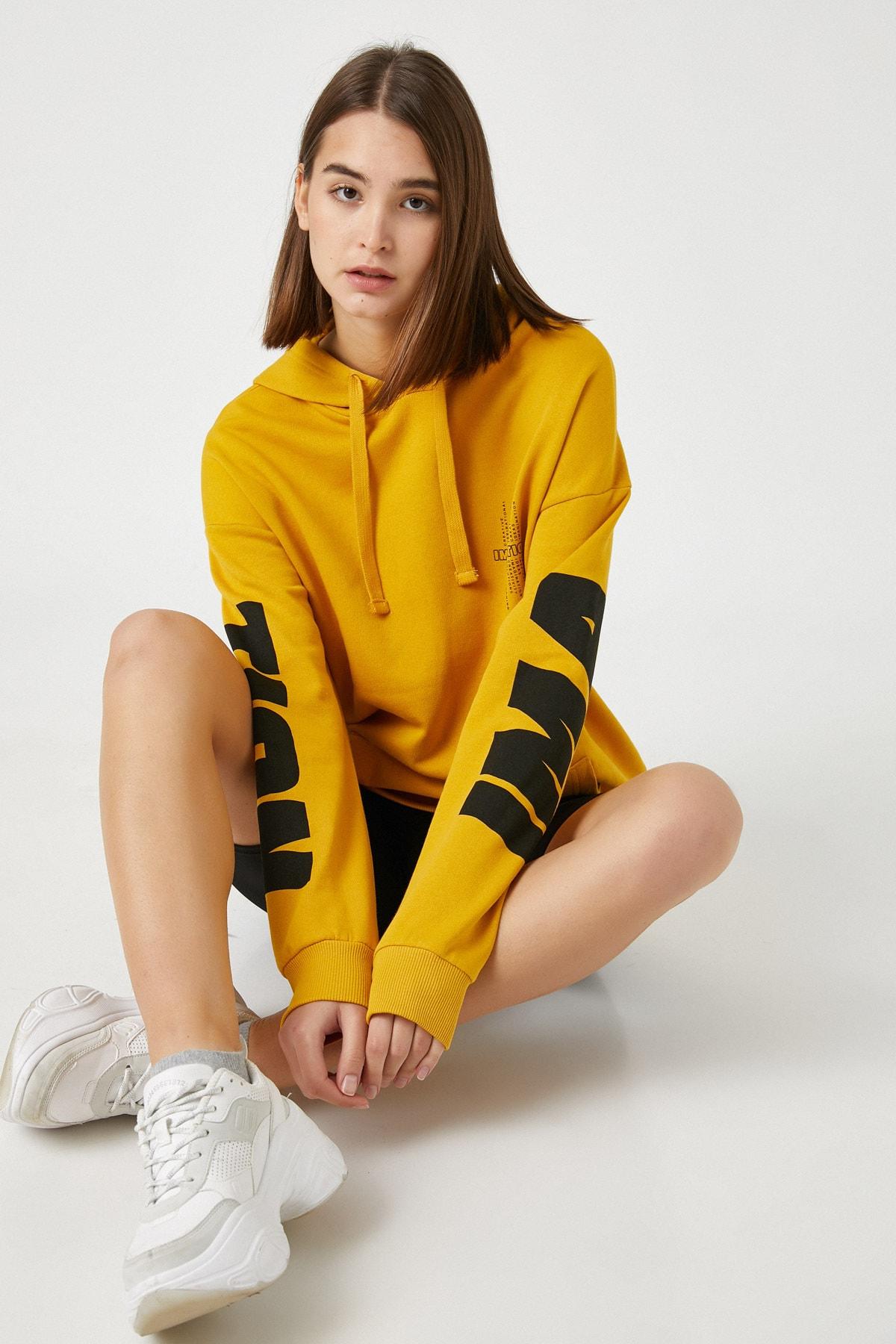 Koton Kadın Sarı Sweatshirt 1KAL68392IK 1
