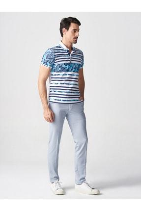 Mcr Erkek Lacivert Baskılı Polo Yaka Tshirt