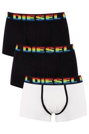 Diesel Erkek Siyah Beyaz 3'lü Boxer 00st3v-0kays-e4877