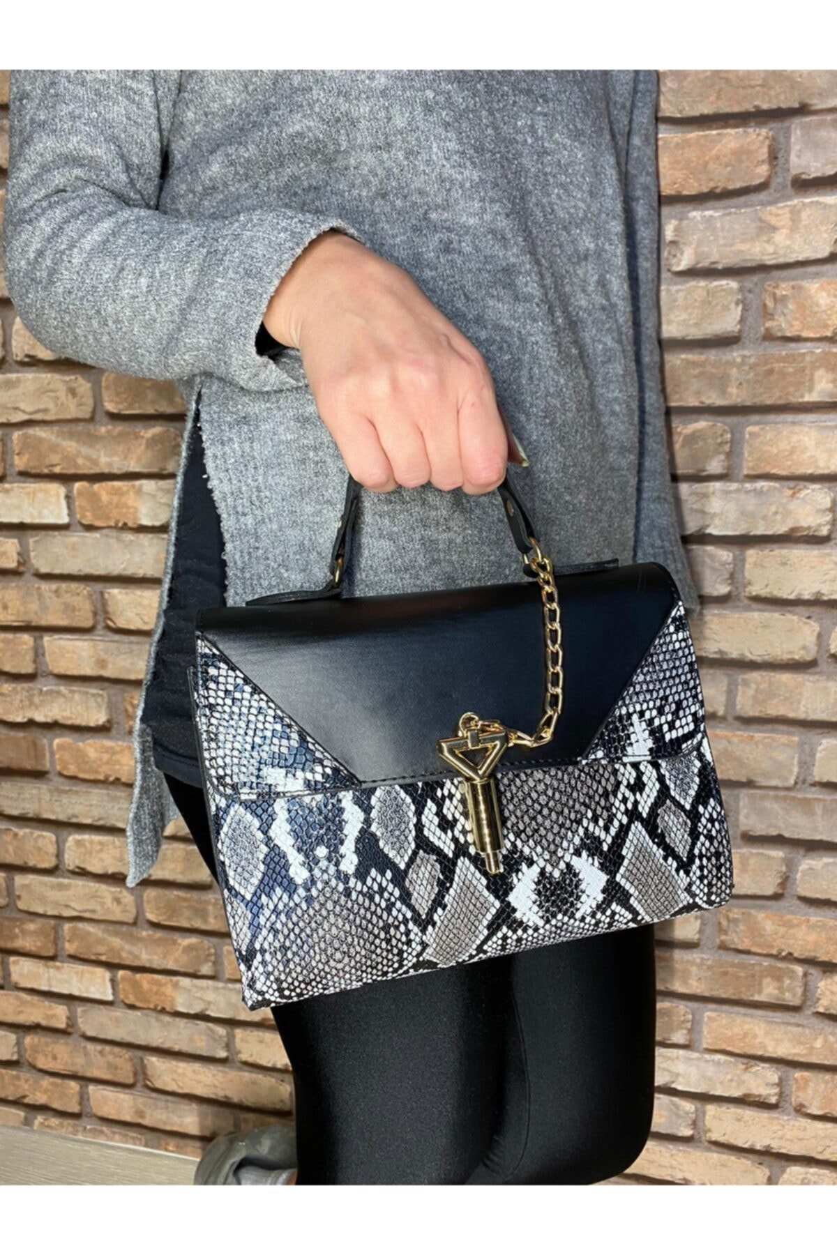 İleri Moda Kadın Siyah Omuz Çanta 2