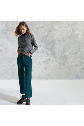 Yargıcı Kadın Kemer Detaylı Denim Pantolon