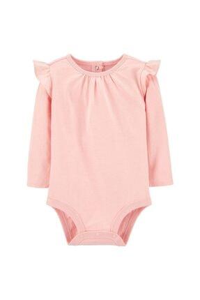 OshKosh Kız Bebek Pembe Büzgülü Uzun Kollu Body 1j680210