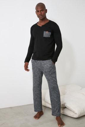 TRENDYOL MAN Siyah Örme Pijama Takımı THMAW21PT0874