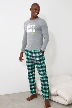 TRENDYOL MAN Ekoseli Dokuma Pijama Takımı THMAW21PT0765