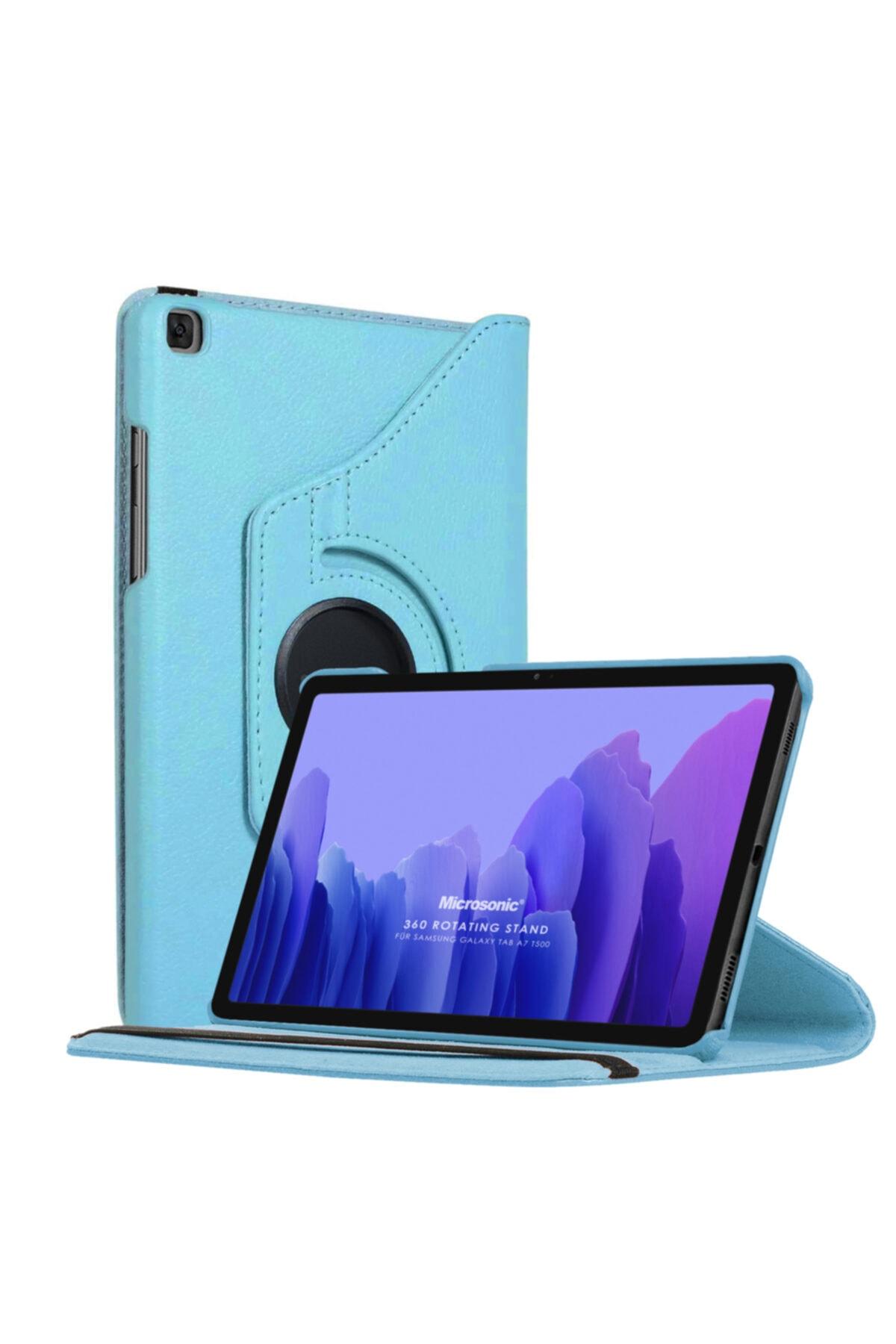 Microsonic Microsonic Galaxy Tab A7 T500 Kılıf 360 Rotating Deri Mavi 1