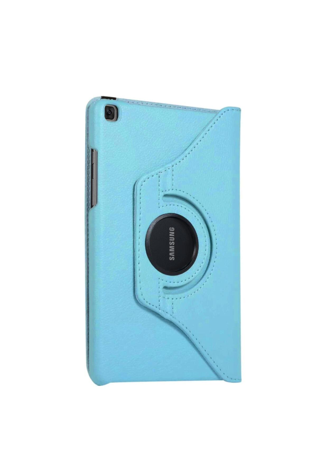 Microsonic Microsonic Galaxy Tab A7 T500 Kılıf 360 Rotating Deri Mavi 2