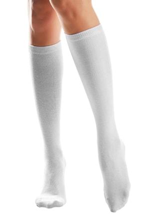 Hane14 Kadın Beyaz Diz Altı Koton Çorap