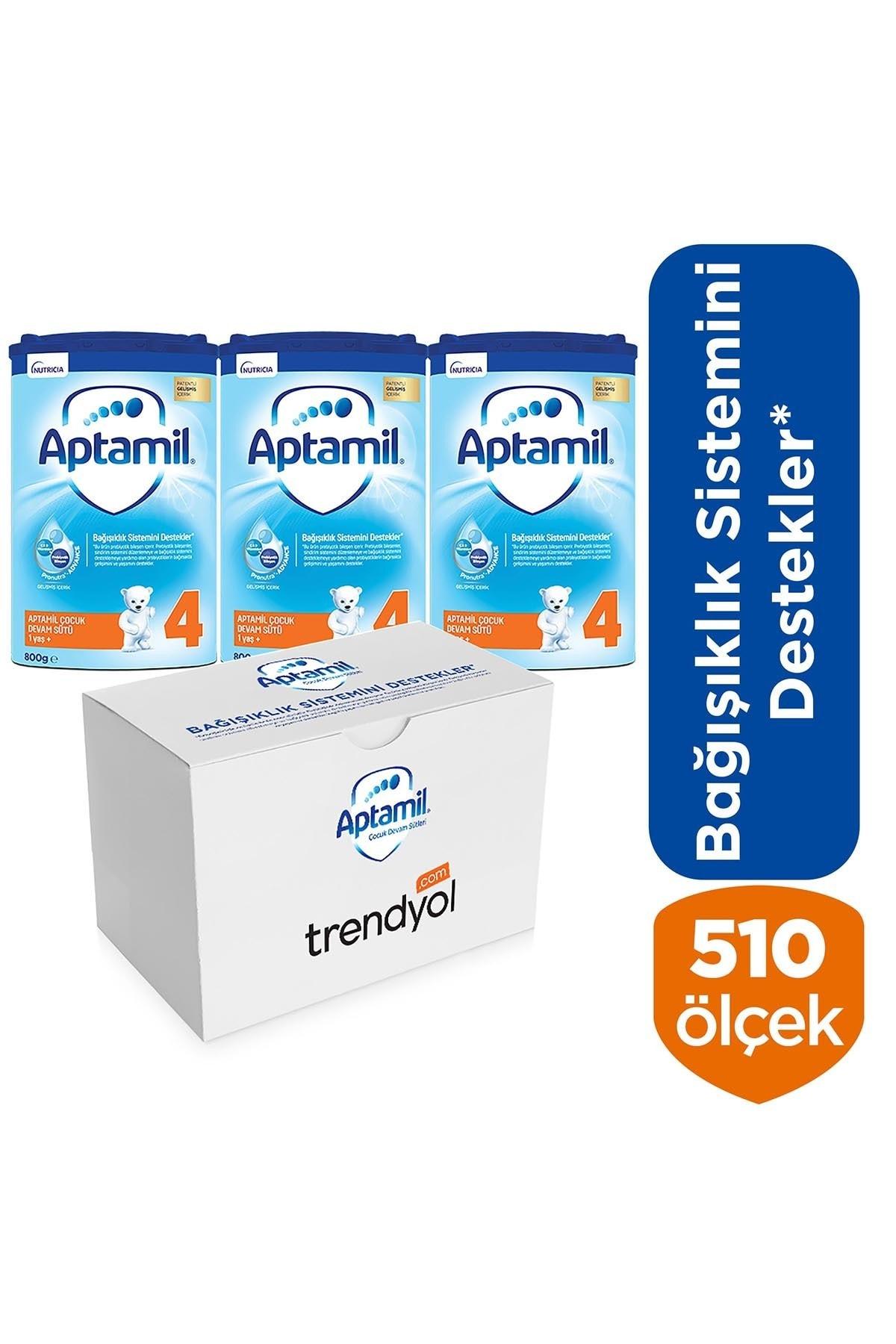 Aptamil 4 Çocuk Devam Sütü 2400g 1 Yaş+ (3 X 800g Akıllı Kutu) 2