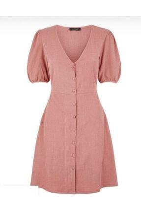 New Look Kadın Pembe Midi Elbise