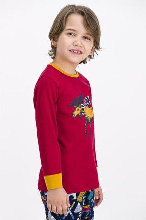 ROLY POLY Erkek Çocuk Bordo Pijama Takımı