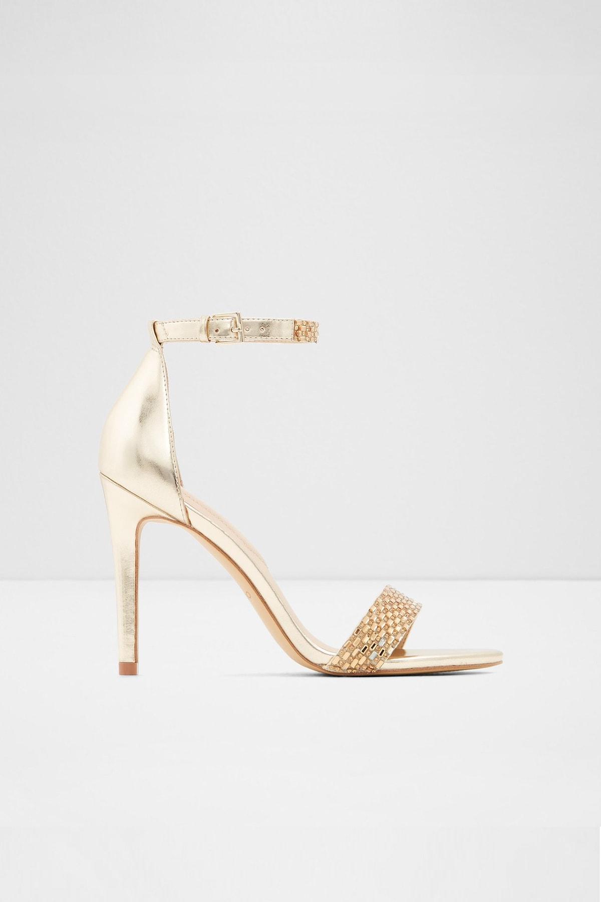 Aldo Kadın Altın Yüksek Topuklu Sandalet 1
