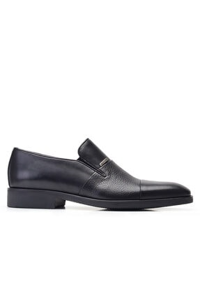 Nevzat Onay Hakiki Deri Siyah Klasik Loafer Erkek Ayakkabı -11861-