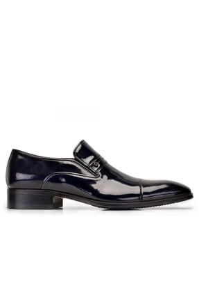 Nevzat Onay Hakiki Deri Lacivert Klasik Loafer Erkek Ayakkabı -7700-