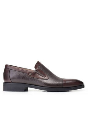 Nevzat Onay Erkek Kahverengi Hakiki Deri Klasik Loafer Ayakkabı 11852