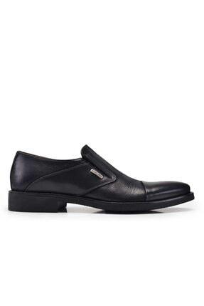 Nevzat Onay Hakiki Deri Siyah Klasik Bağcıksız Erkek Ayakkabı -10823-