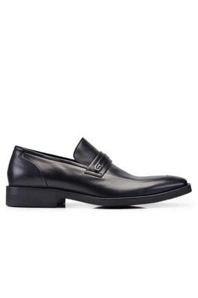 Nevzat Onay Hakiki Deri Siyah Günlük Loafer Erkek Ayakkabı -11341-