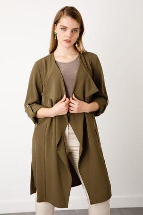 Ekol Kadın Haki Uzun Ceket