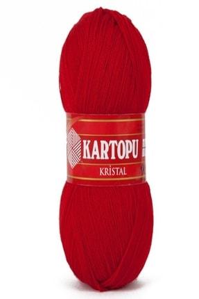 Kartopu Kristal Kırmızı El Örgü Ipi - K125
