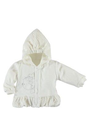 Baby Center Kız Bebek Kadife Kapüşonlu Hırka