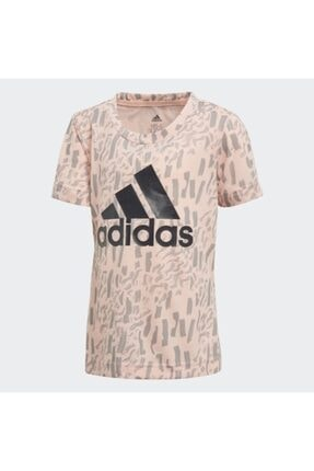 adidas Çocuk Ekru Günlük T-Shirt Dj1466 Lg Pes Tee