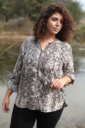 Curly Store Kadın Kahverengi Tek Cepli Bluz