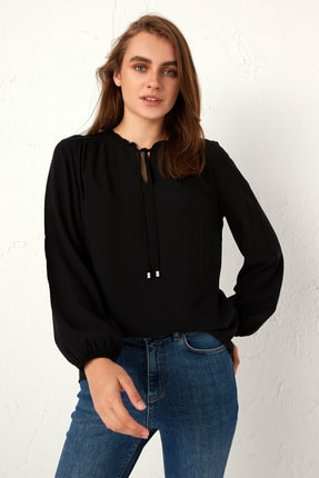 LC Waikiki Kadın Yeni Siyah Bluz 0WDY31Z8