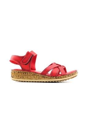 Kayra Kadın Kırmızı Sandalet