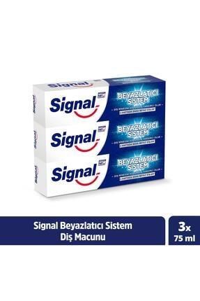 Signal Beyazlatıcı Sistem Diş Macunu 75 Ml X 3
