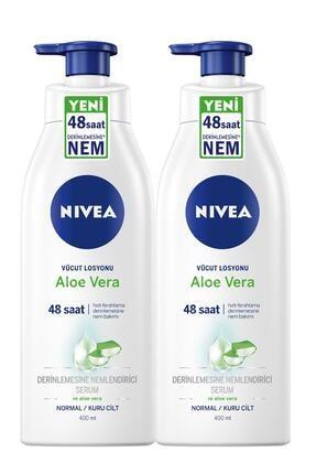 Nivea Aloe Vera Pump Losyon 400 Ml X2