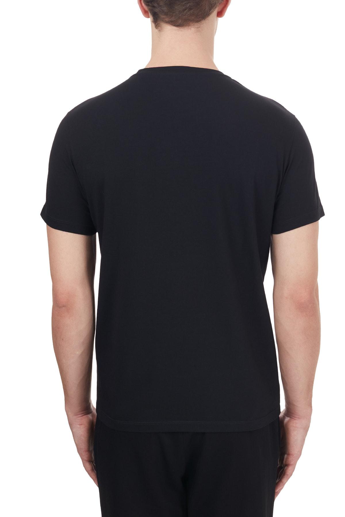 ETRO Pamuklu Bisiklet Yaka T Shirt Erkek T Shirt 1y020 97590 001 2