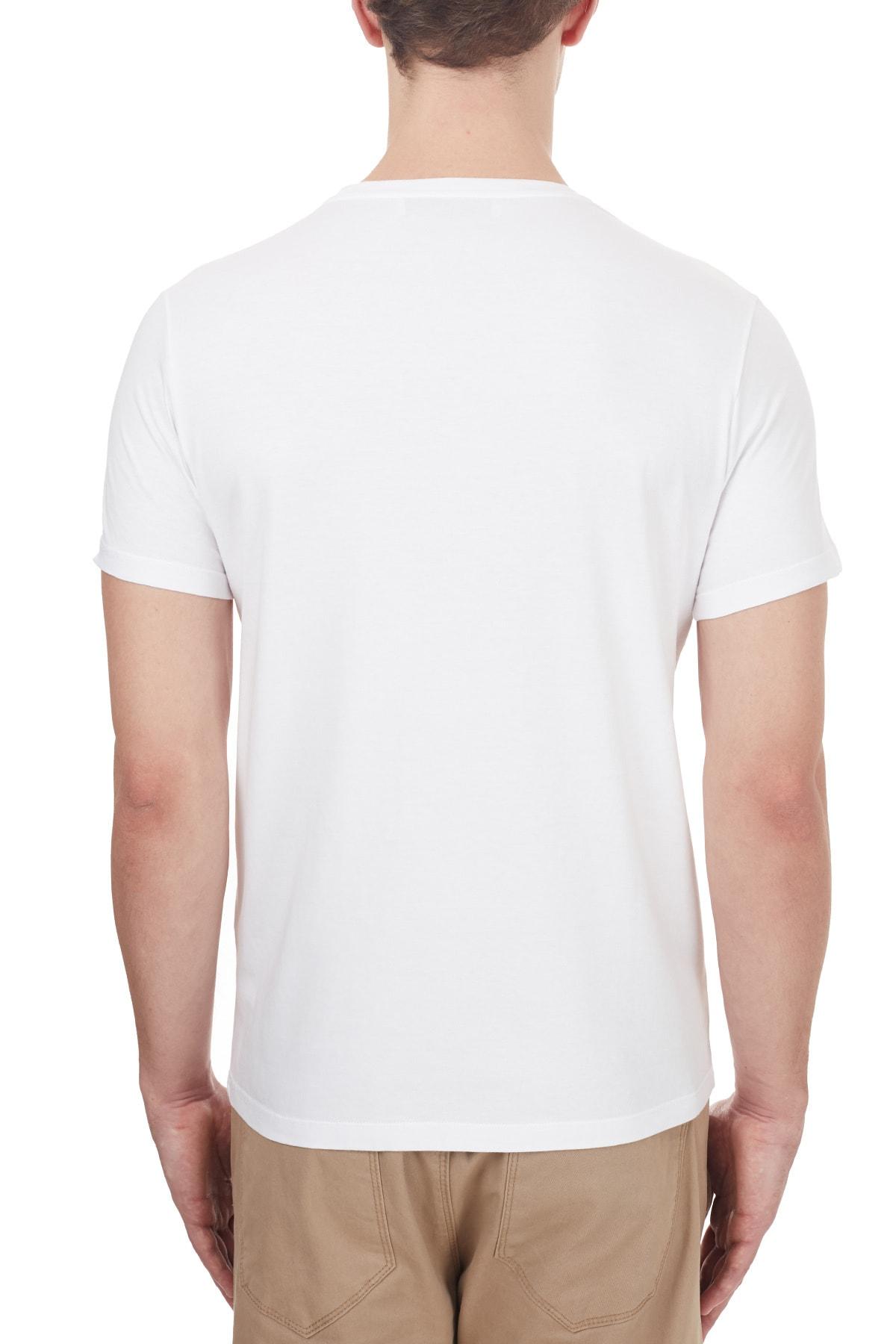 ETRO Pamuklu Baskılı Bisiklet Yaka T Shirt Erkek T Shirt 1y020 9759 0990 2