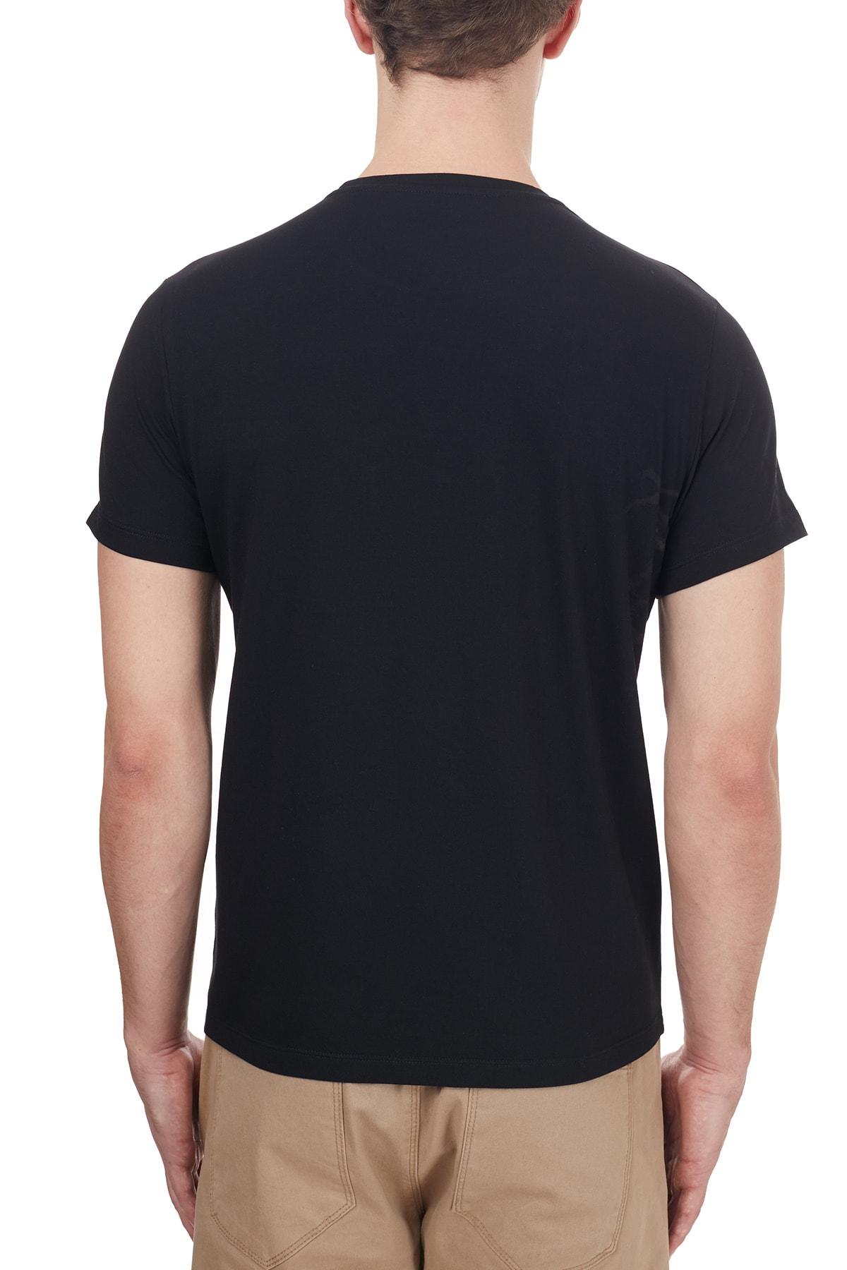 ETRO Pamuklu Baskılı Bisiklet Yaka T Shirt Erkek T Shirt 1y020 97580 001 2