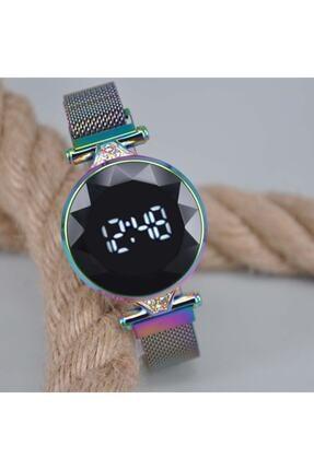 Spectrum Kadın Mıknatıslı Hasır Kordonlu Yuvarlak Renk Değiştiren Kasa Trend Kol Saati Su-118