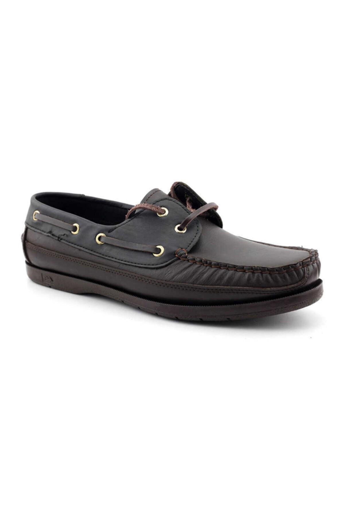 Kayra Erkek Kahverengi Siyah Hakiki Deri Ayakkabı 301 2