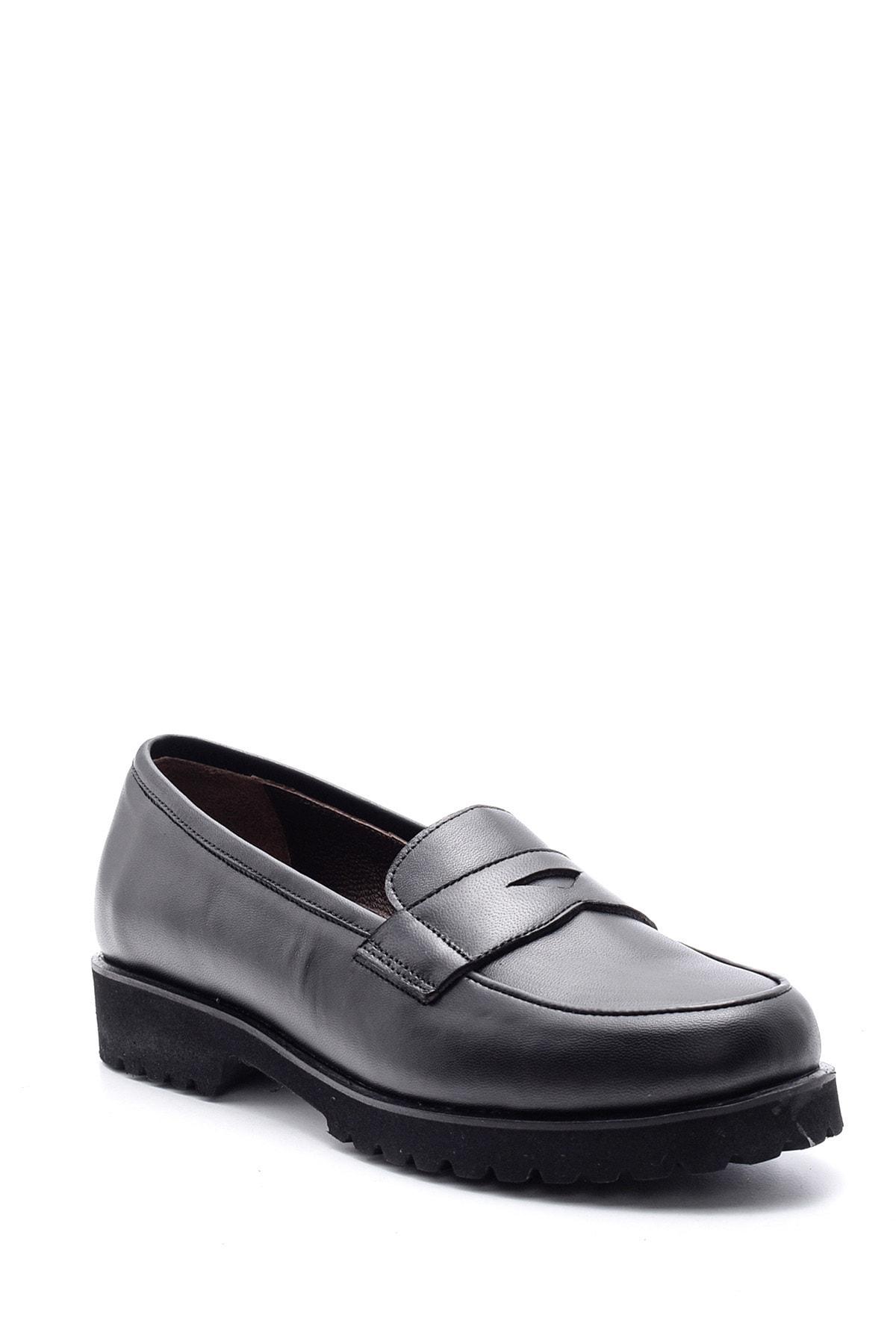 Derimod Kadın Siyah Deri Loafer 2