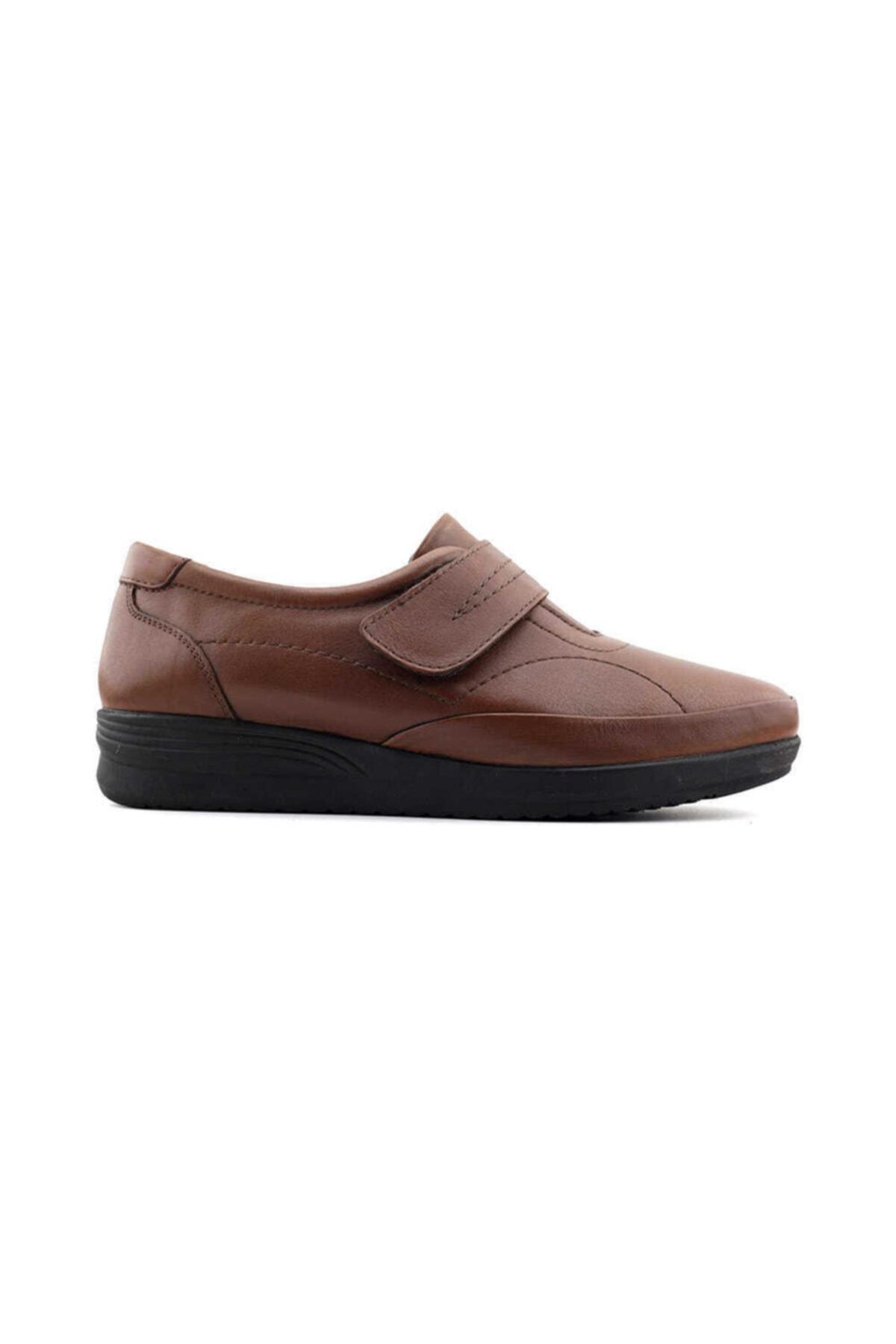 Kayra Kadın Taba Hakiki Deri Ayakkabı 1
