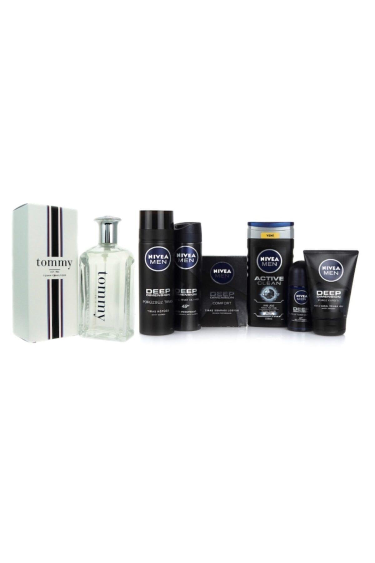 Tommy Hilfiger Perfume Erkek Cilt Bakım Seti + Tommy Hilfiger 100 Ml Edt Erkek Parfümü 1