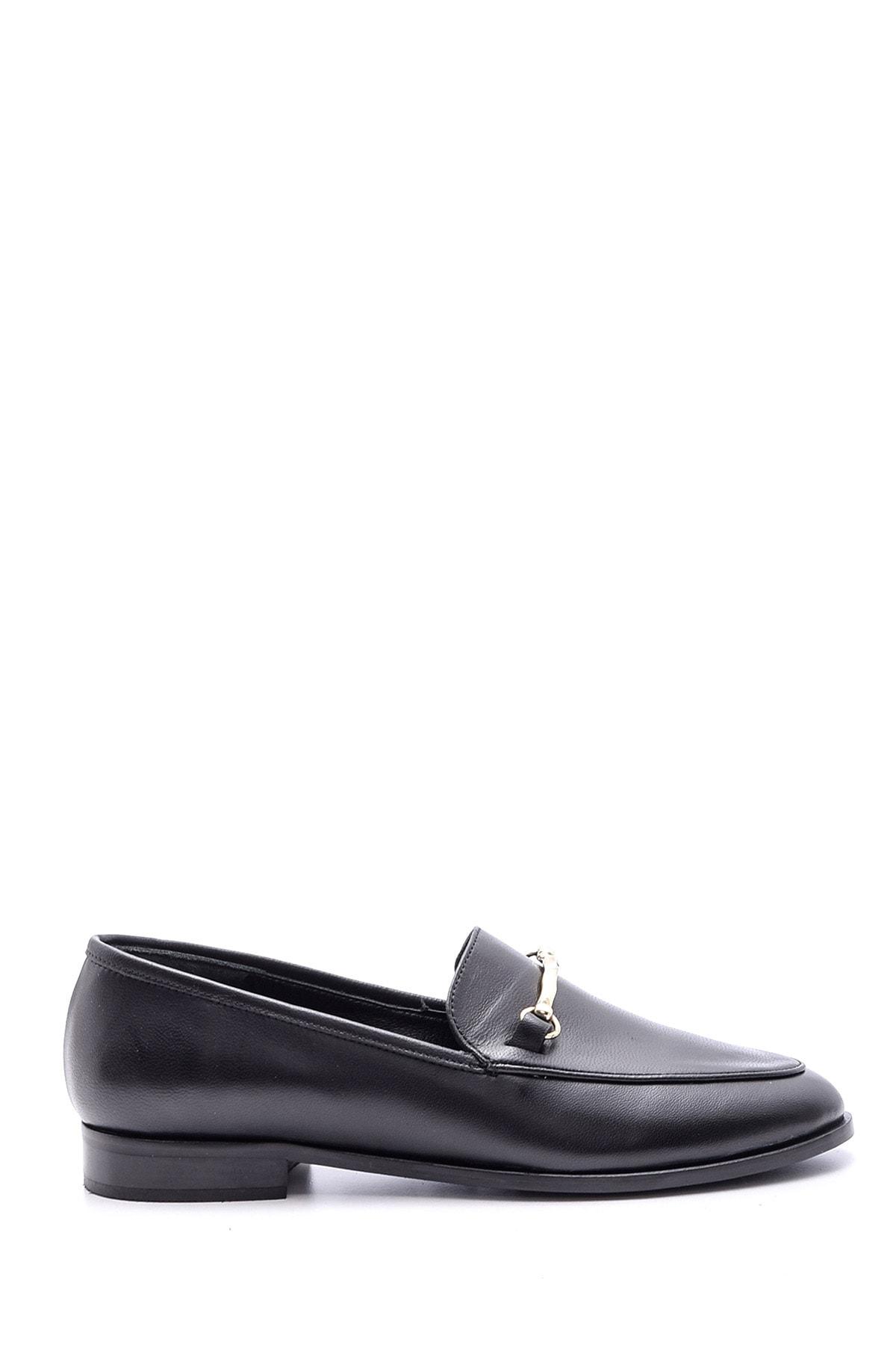 Derimod Kadın Siyah Deri Loafer 1
